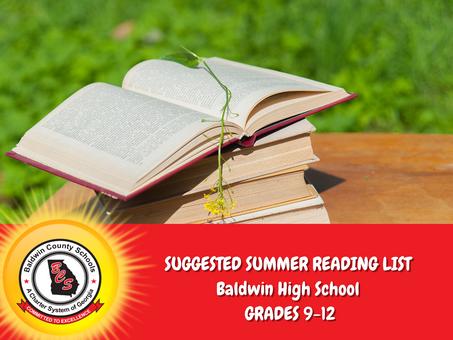 Baldwin High School Suggested Summer Reading List