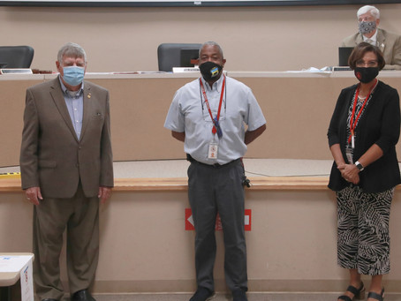 School Board Recognizes BCSD Transportation Department