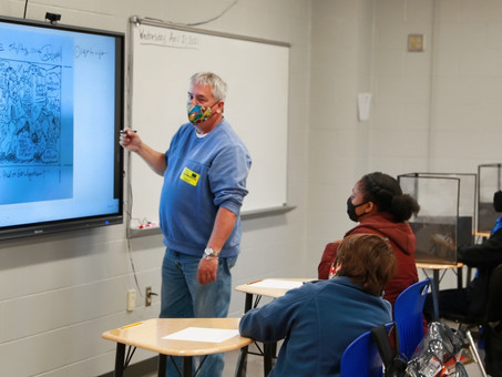 Nationally Renowned Cartoonist Tim Oliphant is Guest Artist at Oak Hill Middle School