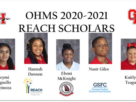 OHMS 2020-2021 REACH Scholars