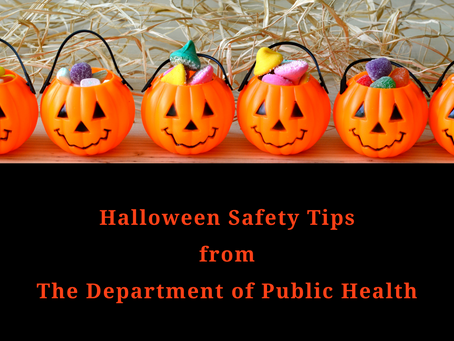 Halloween Safety Tips from the Department of Public Health