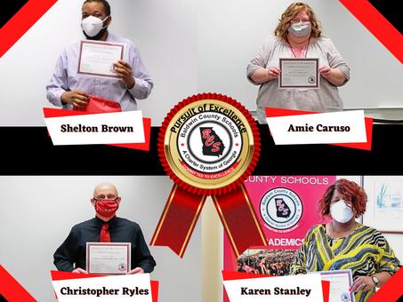 BCSD April's Pursuit of Excellence Winners