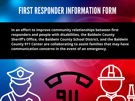 First Responder Information Form for Students with Disabilities