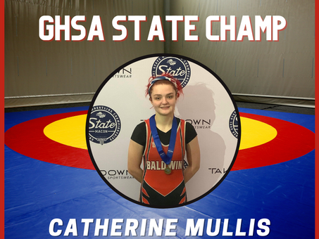 Baldwin High's Catherine Mullis Earns GHSA State Title in Wrestling