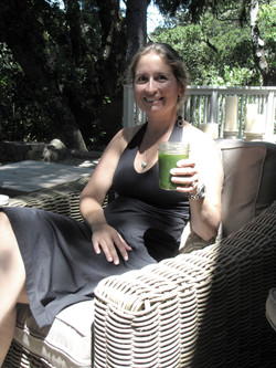 Brenda with green juice