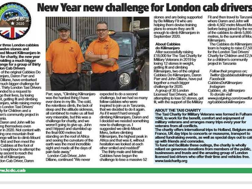 New Year new challenge for London cab drivers, The Badge