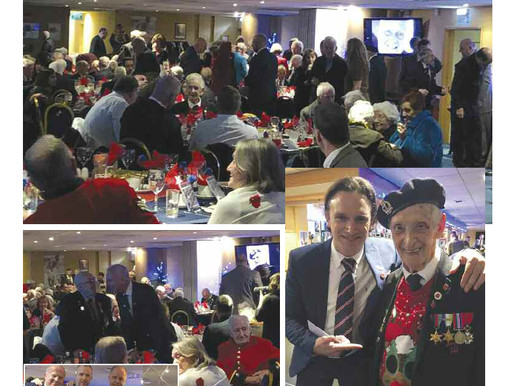War vets enjoy Christmas party at Millwall FC, The Badge