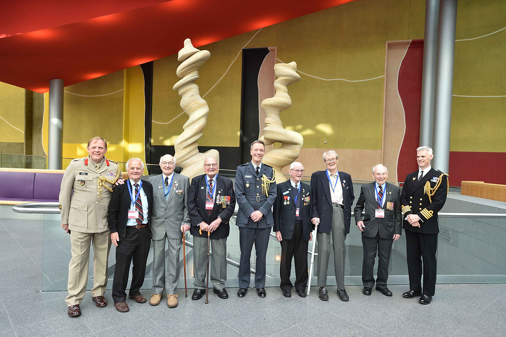 Veterans attend reception at the British Embassy, hosted by UK Air Attaché, Group Captain Mark Heffron