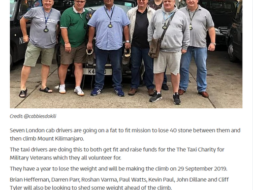 London cabbies aiming to drop 40 stone for charity climb, ITV News