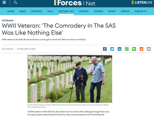 WWII Veteran: 'The Comradery In The SAS Was Like Nothing Else', Forces News