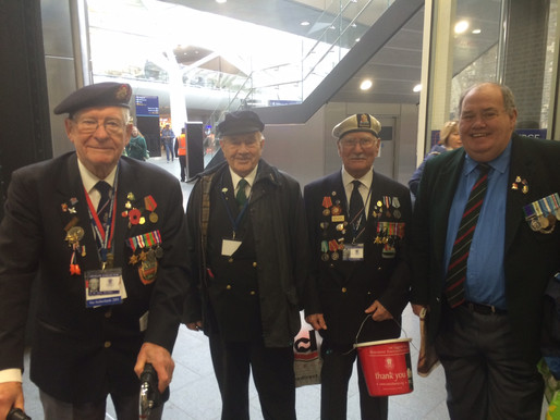Our veterans have another great morning collecting at King's Cross
