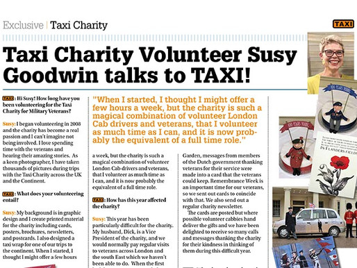 Taxi Charity volunteer Susy Goodwin talks to TAXI!