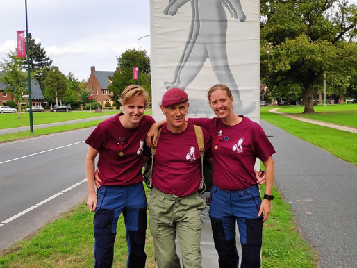 Taxi Charity supporter completes 40km Wandeltocht in the Netherlands in memory of Frank Pendergast