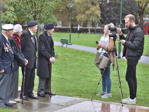 WWII veterans interviewed at Imperial War Museum by RNRMC for short film about loneliness