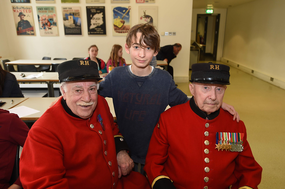 Taxi Charity veterans at Imperial War Museum