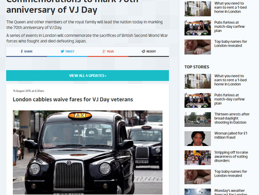 Taxi Charity in the press: ITV.com, 15 August 2015