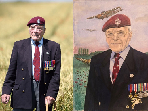 WWII veteran supports Taxi Charity with art