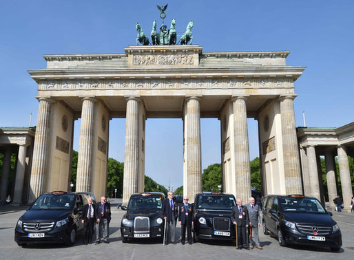 Taxi Charity escorts WWII veterans to Berlin Airlift anniversary celebrations
