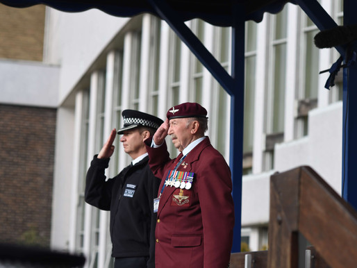 Taxi Charity veterans attend passing out parade at Hendon