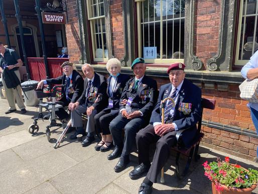 WWII veterans visit the Battlefield Line