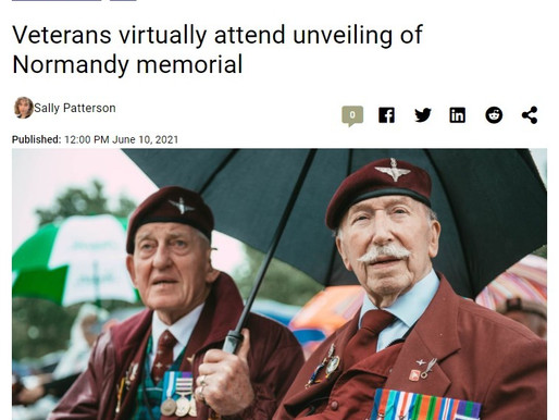 Veterans virtually attend unveiling of Normandy memorial, Romford Recorder