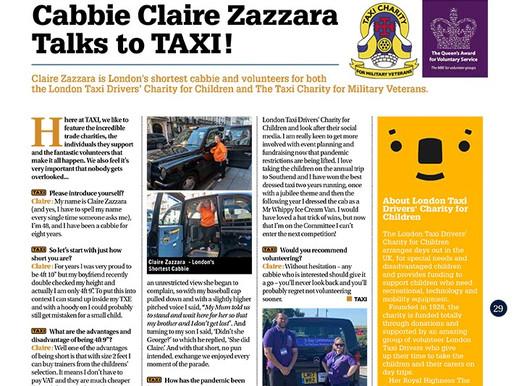 Cabbie Claire Zazzara talks to TAXI!