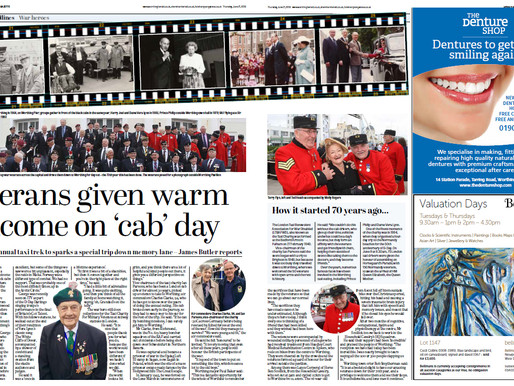 Veterans given warm welcome on 'cab' day, Worthing Herald