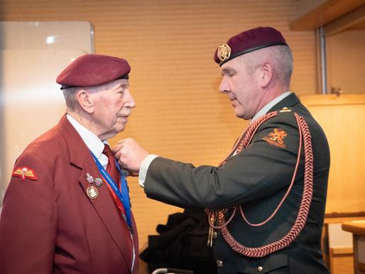 Tom Schaffer receives Dutch Liberation Medal
