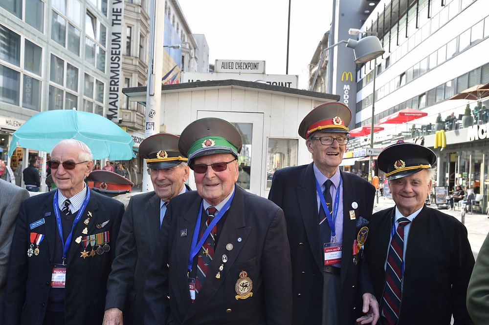 Veterans at Checkpoint Charlie