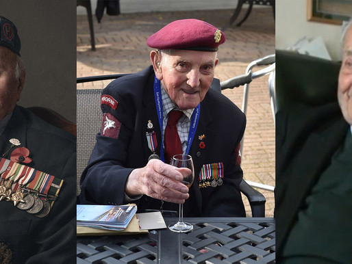 Taxi Charity hosts lunch for three veterans celebrating their 100th birthdays