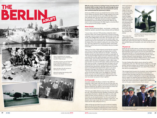 The Berlin Airlift, RAF Association Air Mail Magazine
