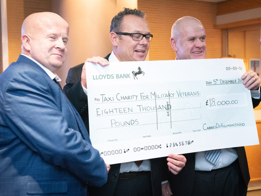 'Cabbies Do Kilimanjaro' presents £18,000 to the Taxi Charity