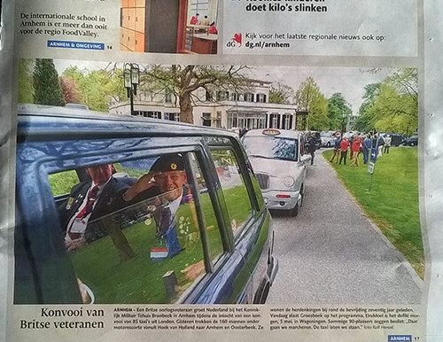 Taxi Charity in the press: de Gelderlander - 29 April to 4 May 2015