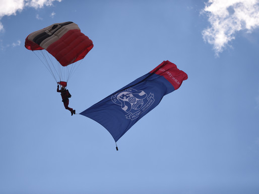 Fantastic press coverage for our veterans' fundraising skydive with the Red Devils on 10 August