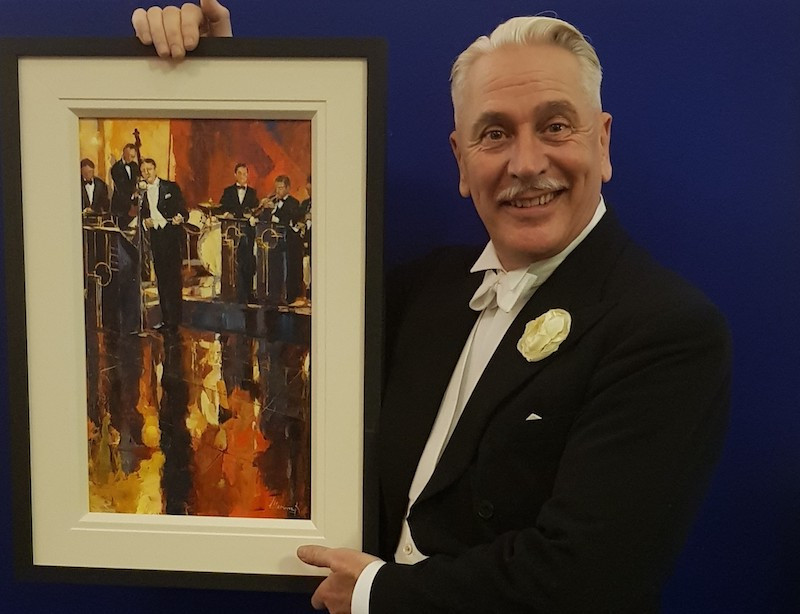 John Hammond donates painting to raise money for Taxi Charity
