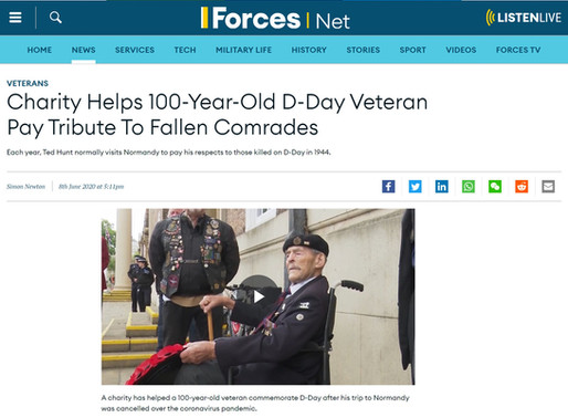 Charity helps 100-year-old D-Day veteran pay tribute to fallen comrades, Forces.net