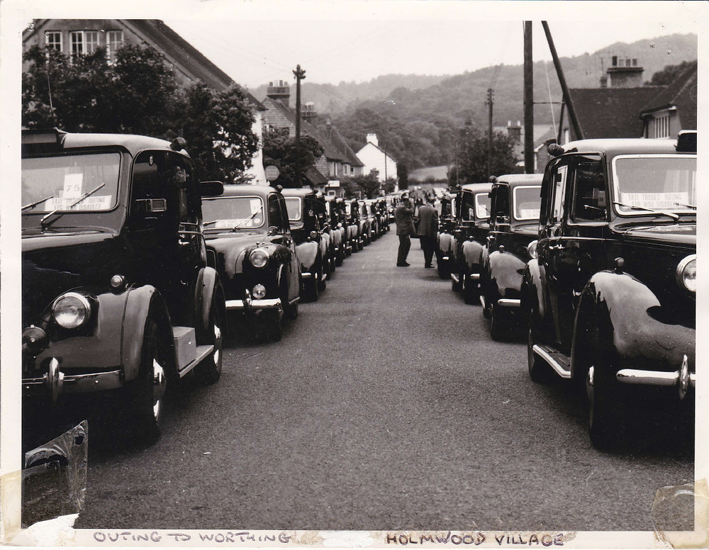Taxi Charity Worthing Outing 1955