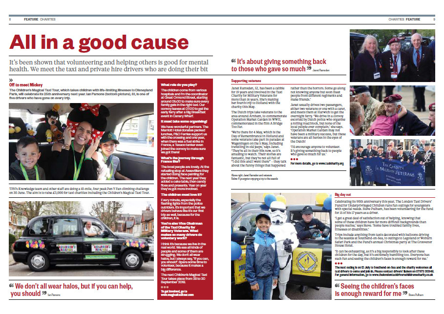 All in a good cause, OnRoute magazine