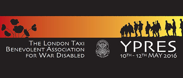 Taxi Charity Ypres banner