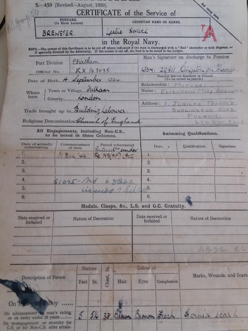 Leslie's Certificate of Service