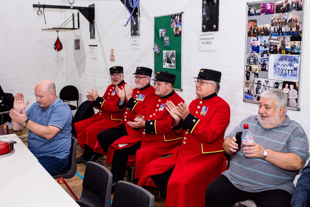 Chelsea Pensioners at Taxi Charity Boxing Night