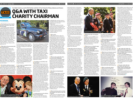 Q&A with Taxi Charity Chairman, TAXI