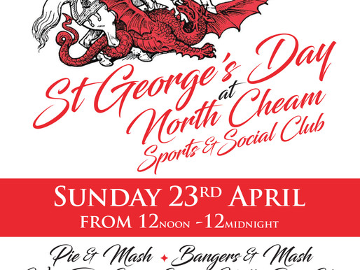 North Cheam Sports & Social Club to hold St George's Day bash to fundraise for Taxi Charity