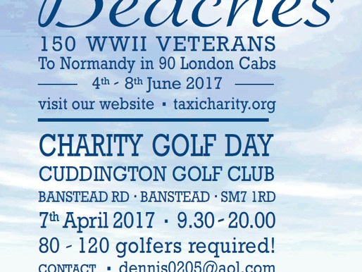 Charity Golf Day to be held at Cuddington Golf Club in aid of Taxi Charity