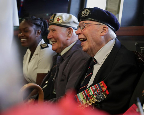 Veterans visit HMS Queen Elizabeth in Portsmouth