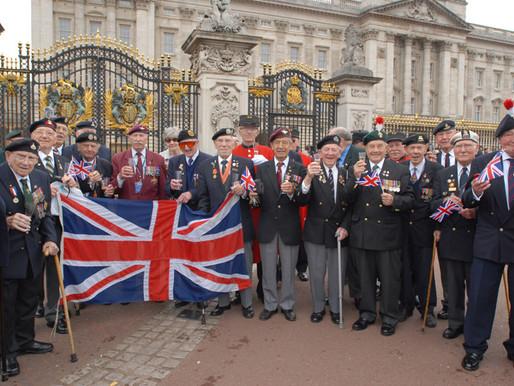 WW2 Veterans raise a glass to HM The Queen