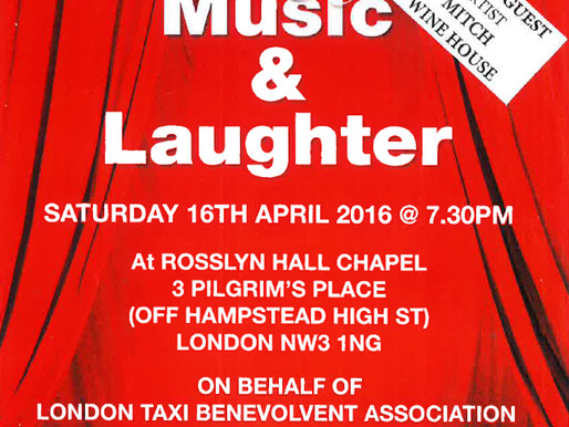 An Evening of Music & Laughter, Saturday 16 April 2016, Hampstead