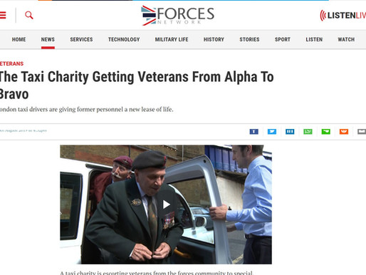 The Taxi Charity getting veterans from alpha to bravo, Forces Network