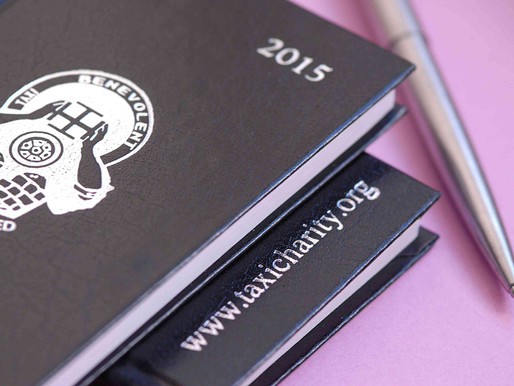 Donations: 2015 Taxi Charity diaries available to buy - £5 including P&P