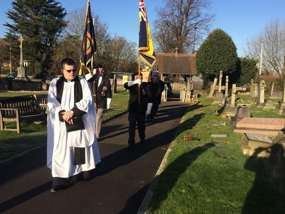 Bert Smith's funeral